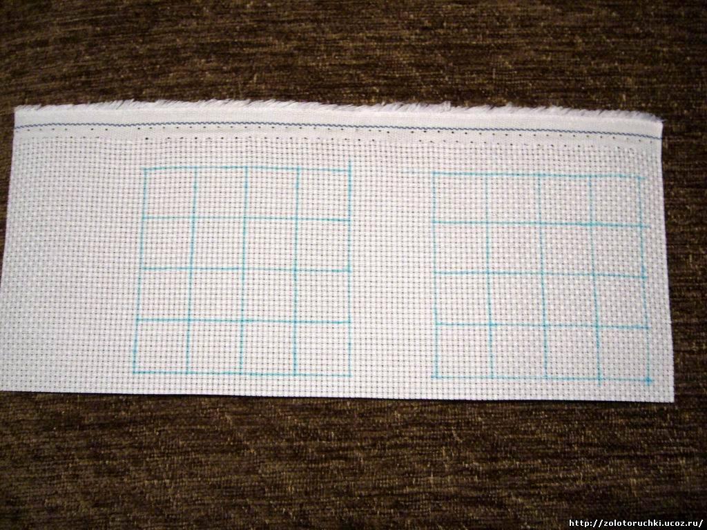 Как разметить ткань для вышивки